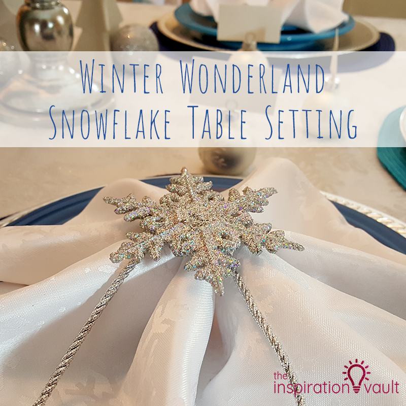 Winter Wonderland Snowflake Table Setting Feature