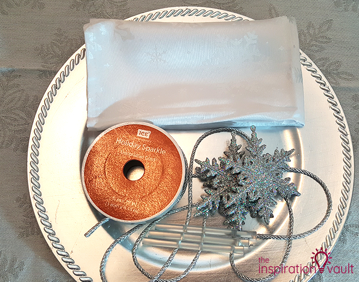 Winter Wonderland Snowflake Table Setting Materials