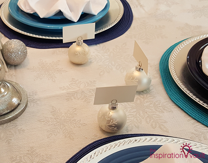 Winter Wonderland Snowflake Table Setting Place Card Holders