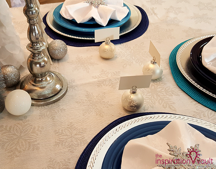 Winter Wonderland Snowflake Table Setting Place Mats