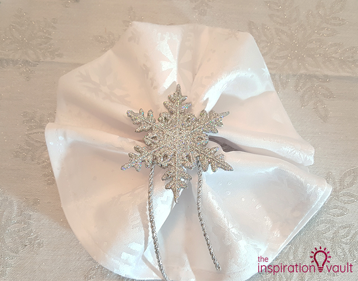 Winter Wonderland Snowflake Table Setting Step 6