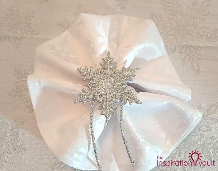 Winter Wonderland Snowflake Table Setting Step 6