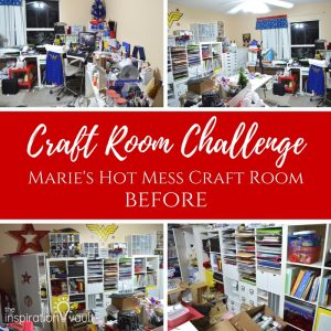 CRC Marie's Hot Mess Craft Room BEFORE Feature