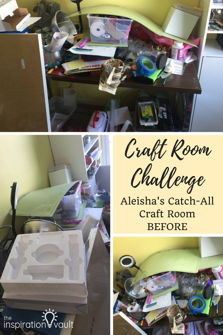 Craft Room Challenge Aleisha's Catch-All Craft Room Before