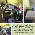 Craft Room Challenge: Aleisha's Catch-All Craft Room BEFORE