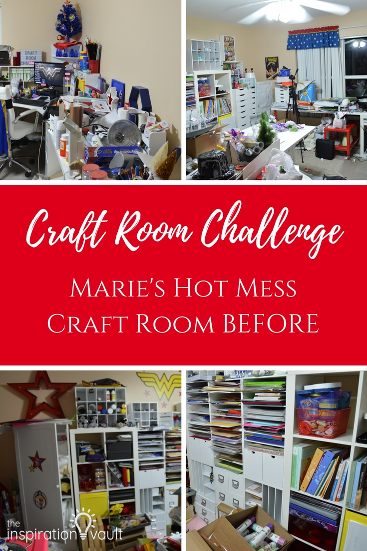 Craft Room Challenge Marie's Hot Mess Craft Room BEFORE