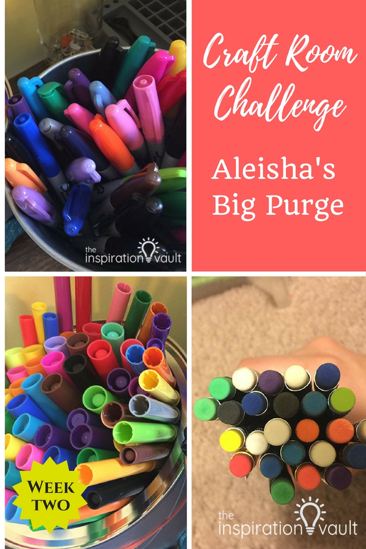 Craft Room Challenge Week 2: Aleisha's Big Purge #craftroomchallenge #confessyourmess #inspovault #organize #craftroom