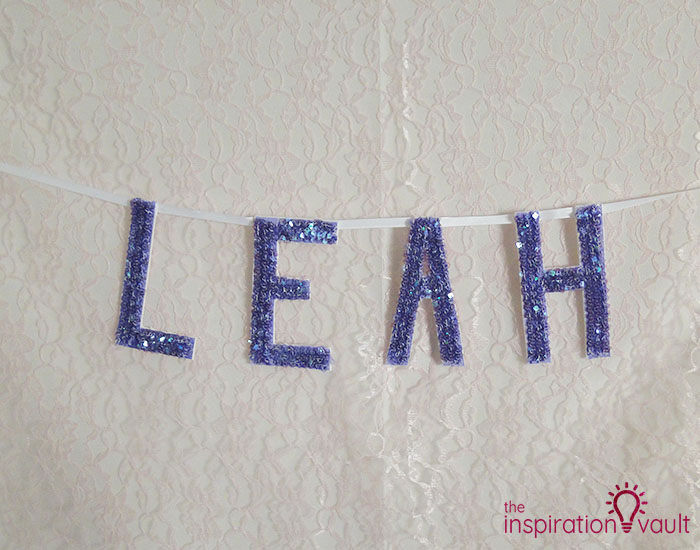 Personalized Sequin Name Banner Complete