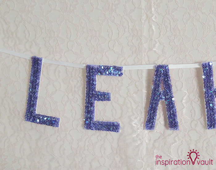 Personalized Sequin Name Banner Step 6