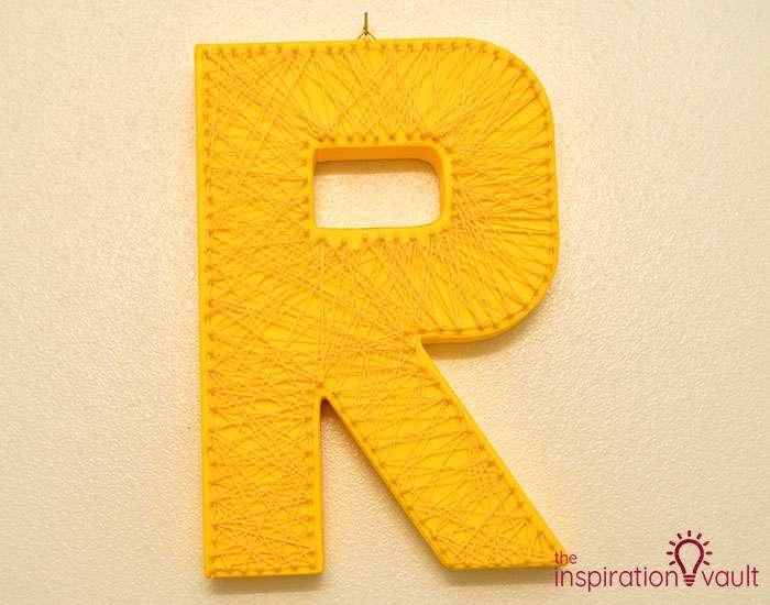 String Art Monogram Letter Complete