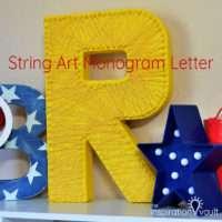 String Art Monogram Letter Feature