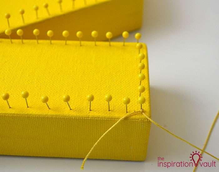 String Art Monogram Letter Step 3