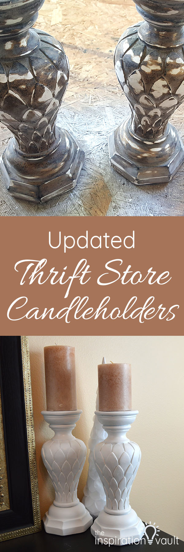 Updated Thrift Store Candleholders DIY Craft Tutorial Long