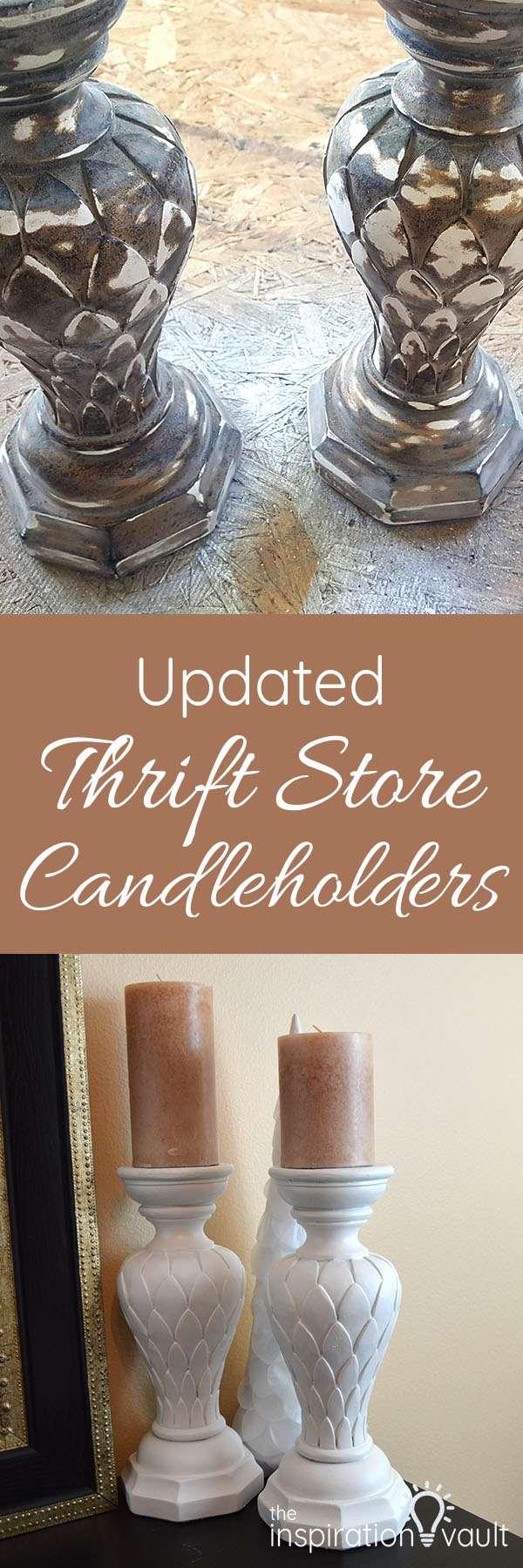 Updated Thrift Store Candleholders DIY Craft Tutorial Long