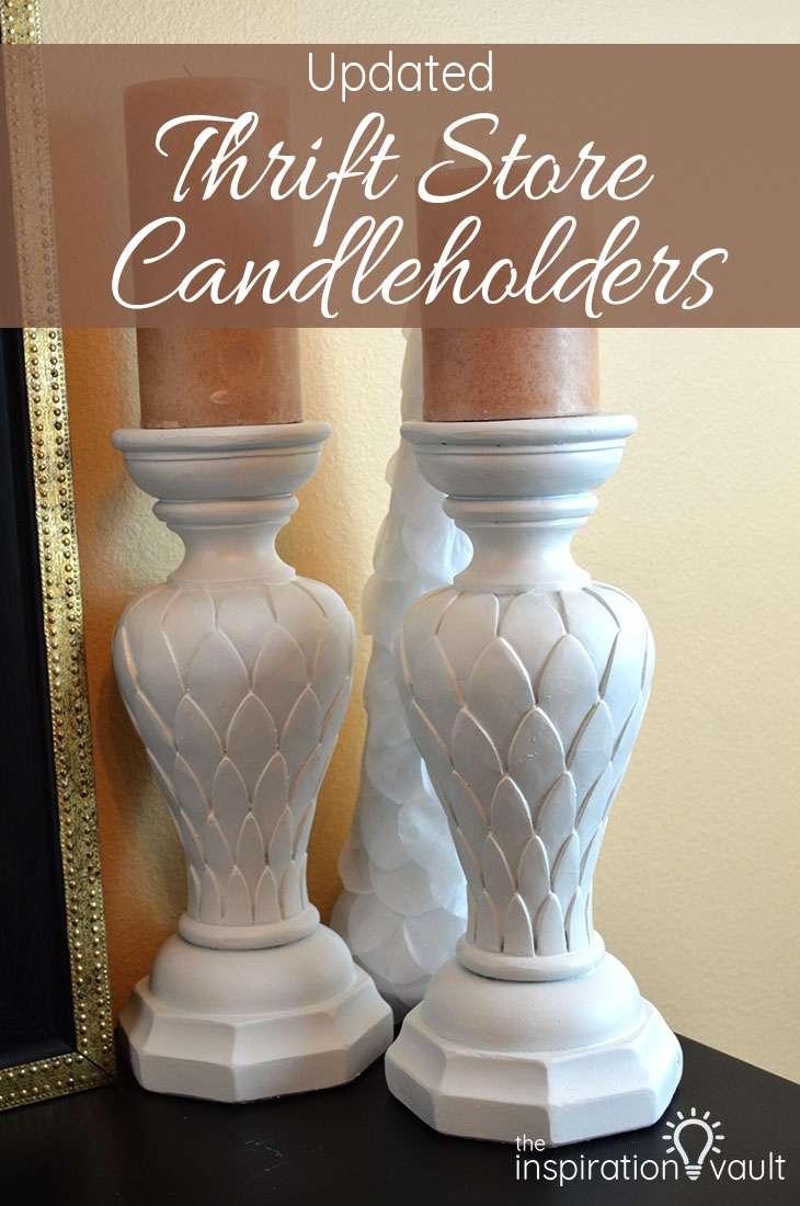 Updated Thrift Store Candleholders DIY Craft Tutorial Std