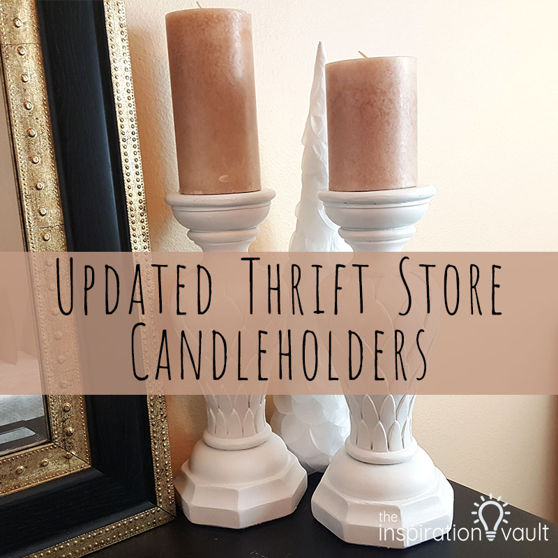 Updated Thrift Store Candleholders Feature
