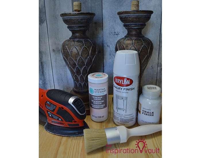 Updated Thrift Store Candleholders Materials