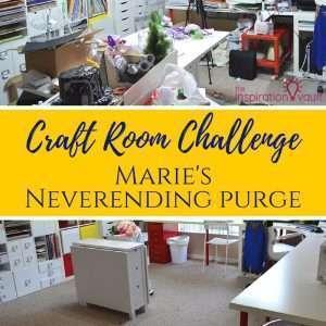 Craft Room Challenge Week 2 Marie's Neverending Purge Feature