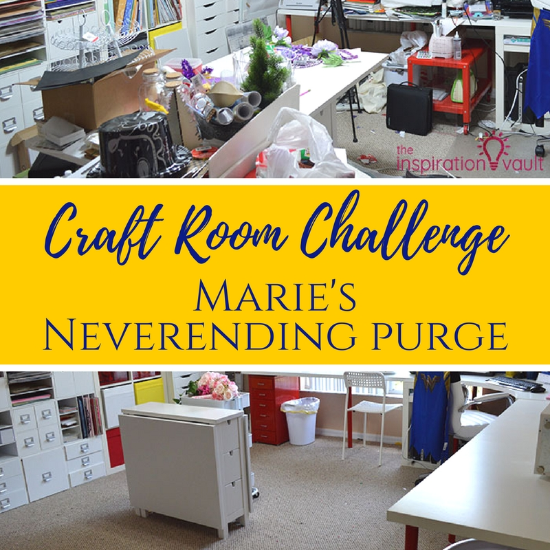 Craft Room Challenge Week 2 Marie's Neverending Purge Feature