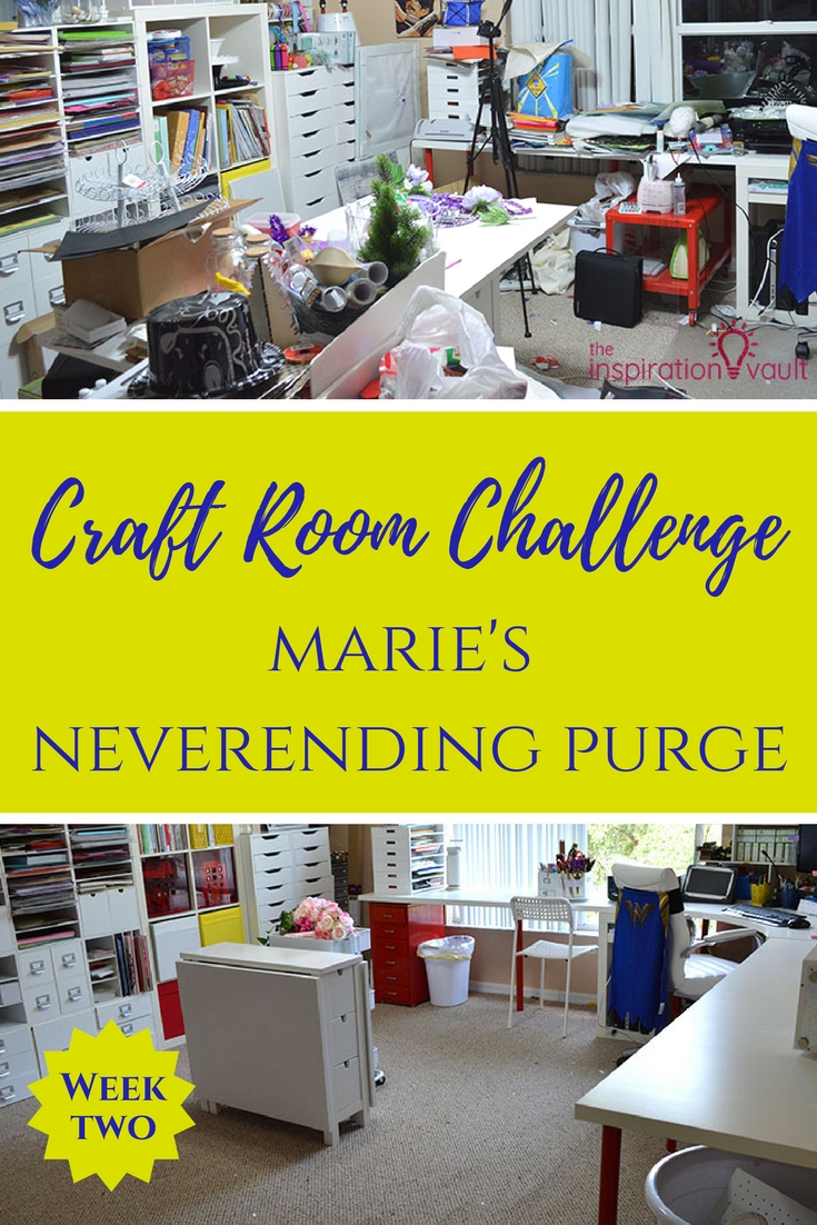 Craft Room Challenge Week 2 Marie's Neverending Purge Organization and Makeover