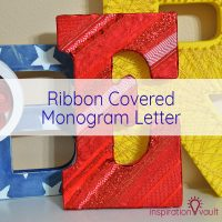 Ribbon Covered Monogram Letter Feature