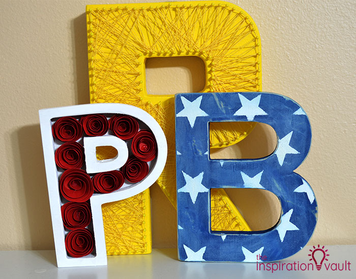 Ribbon Covered Monogram Letter Previous Letters