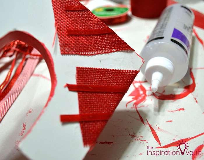 Ribbon Covered Monogram Letter Step 4b