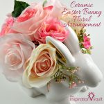 Ceramic Easter Bunny Floral Arrangement