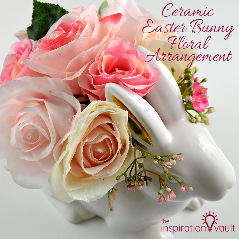 Ceramic Easter Bunny Floral Arrangement Feature Image