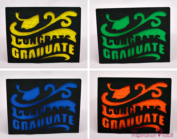 Congrats Graduate Cricut Card Complete School Colors