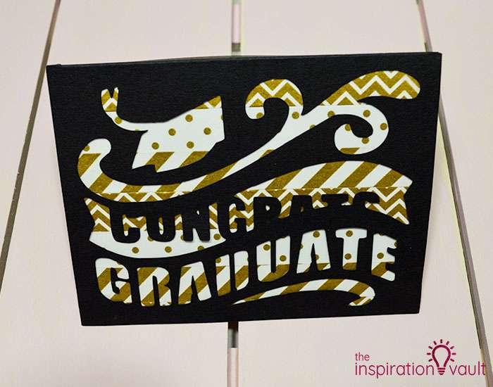 Congrats Graduate Cricut Card Complete