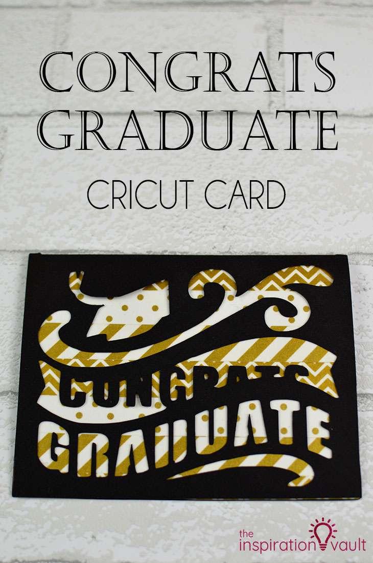 Congrats Graduate Cricut Card DIY Handmade Papercraft Tutorial