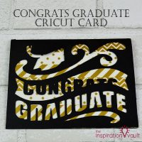 Congrats Graduate Cricut Card Feature