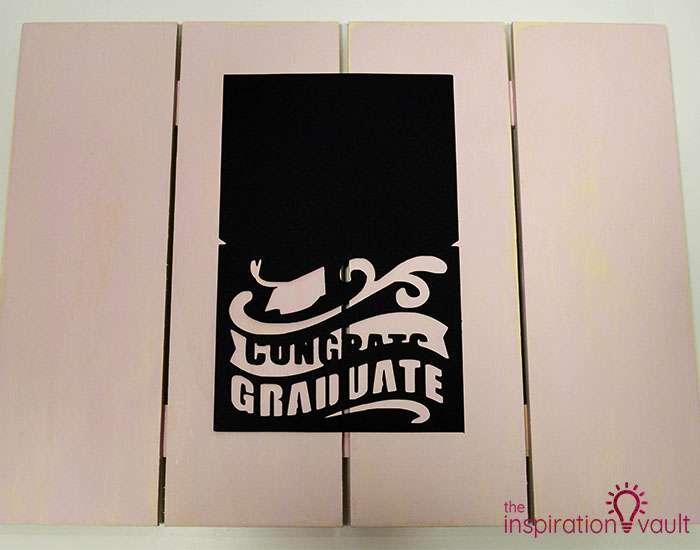 Congrats Graduate Cricut Card Step 4a