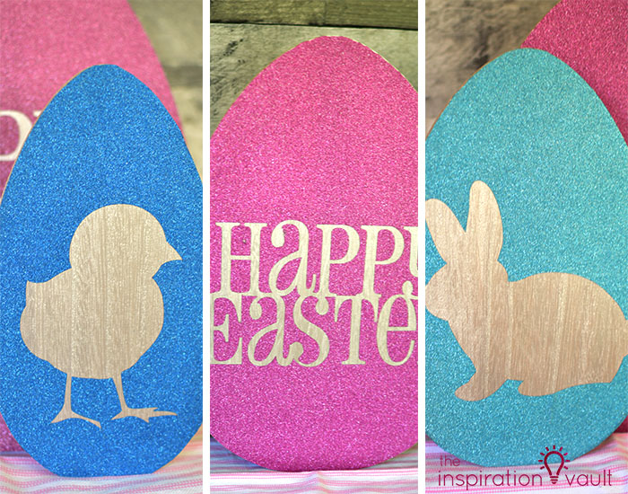 Decorate Wooden Eggs with Glitter Vinyl Complete 2