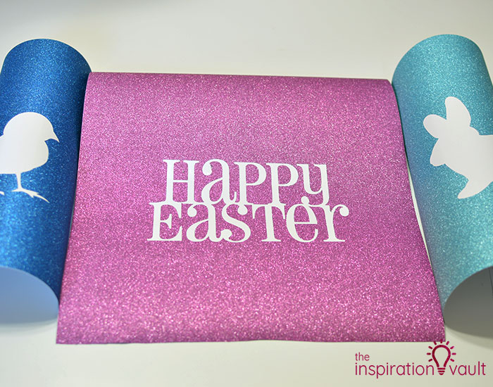 Decorate Wooden Eggs with Glitter Vinyl Step 7