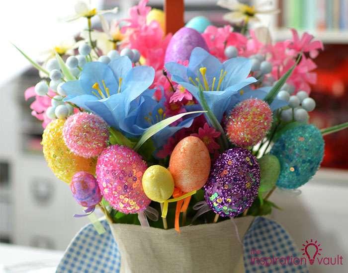 Dollar Tree Egg Bouquet Centerpiece Complete