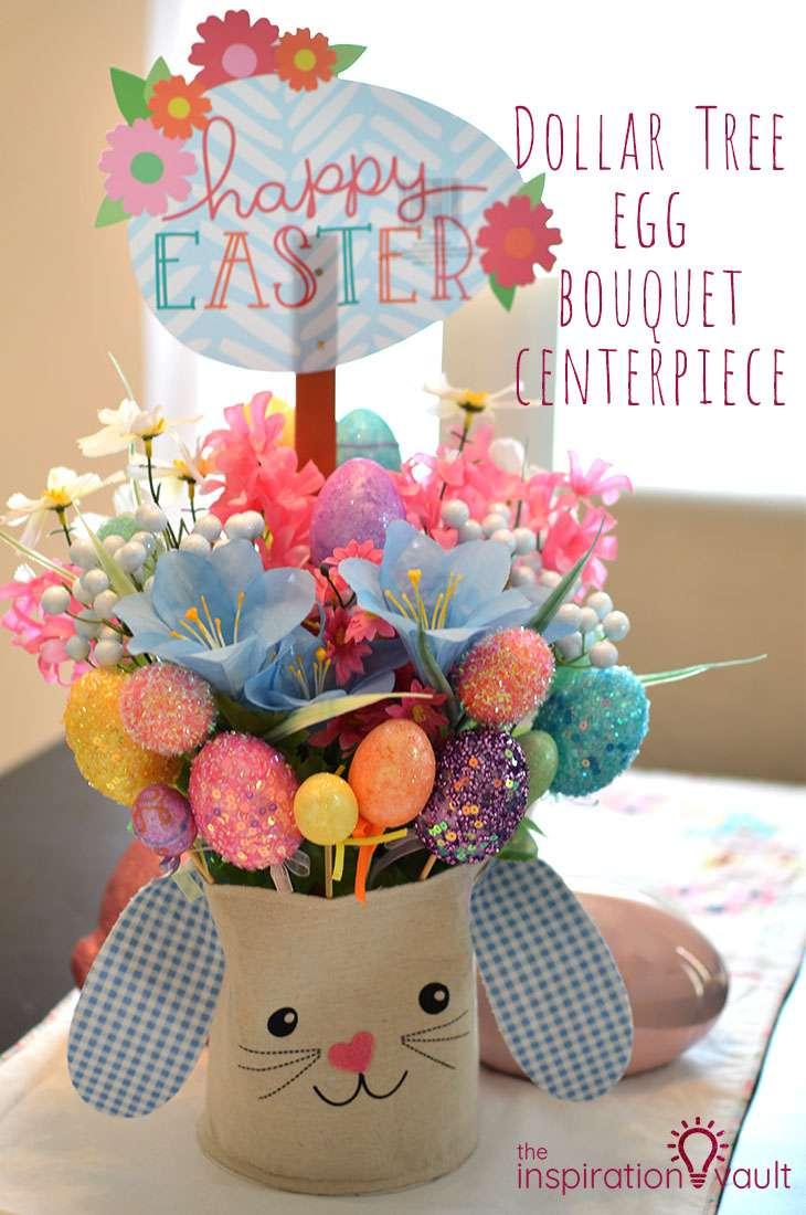 Dollar Tree Egg Bouquet Centerpiece DIY Easter Craft Tutorial