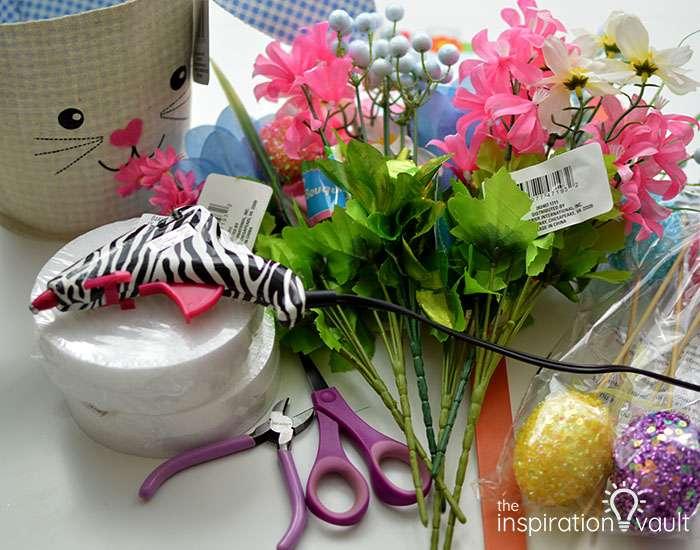 Dollar Tree Egg Bouquet Centerpiece Materials