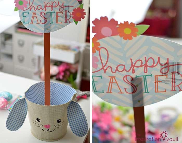 Dollar Tree Egg Bouquet Centerpiece Step 4