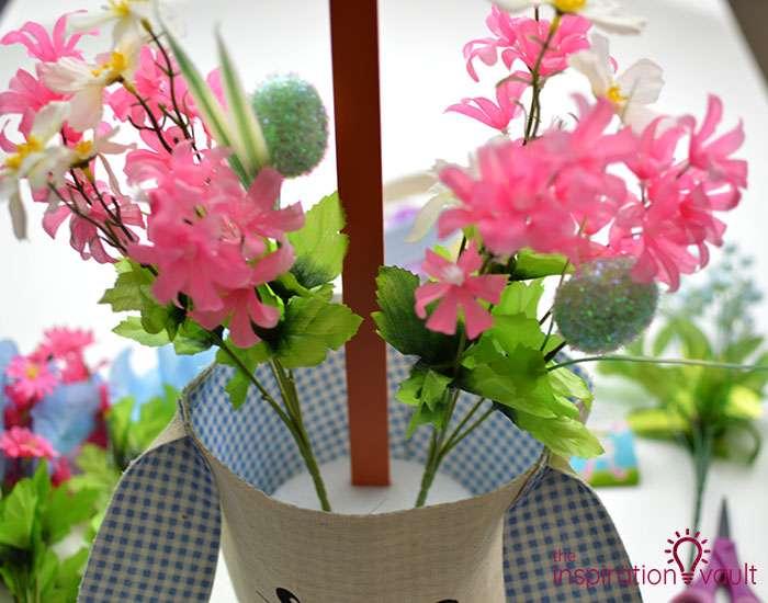 Dollar Tree Egg Bouquet Centerpiece Step 5a