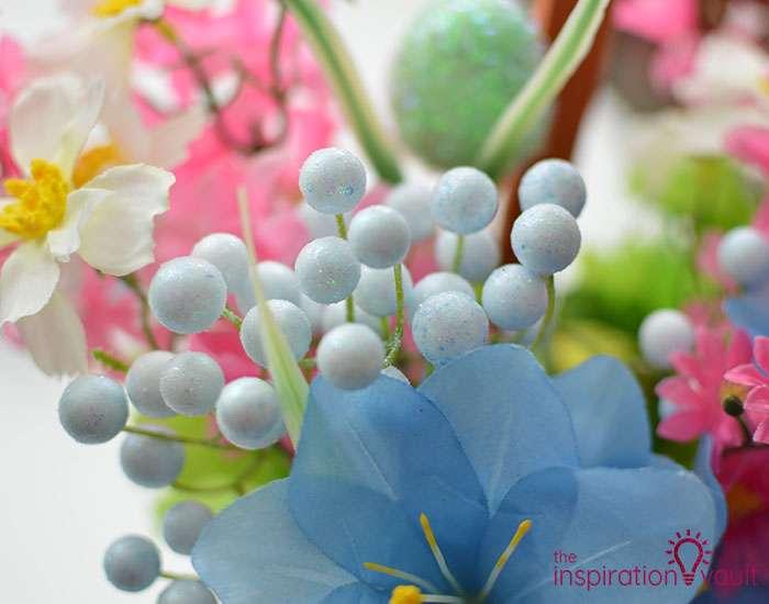 Dollar Tree Egg Bouquet Centerpiece Step 5f