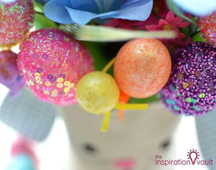 Dollar Tree Egg Bouquet Centerpiece Step 6a