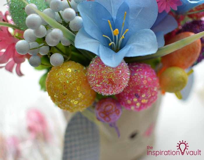 Dollar Tree Egg Bouquet Centerpiece Step 6b