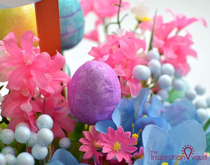 Dollar Tree Egg Bouquet Centerpiece Step 6c