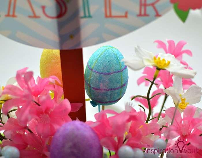 Dollar Tree Egg Bouquet Centerpiece Step 6d
