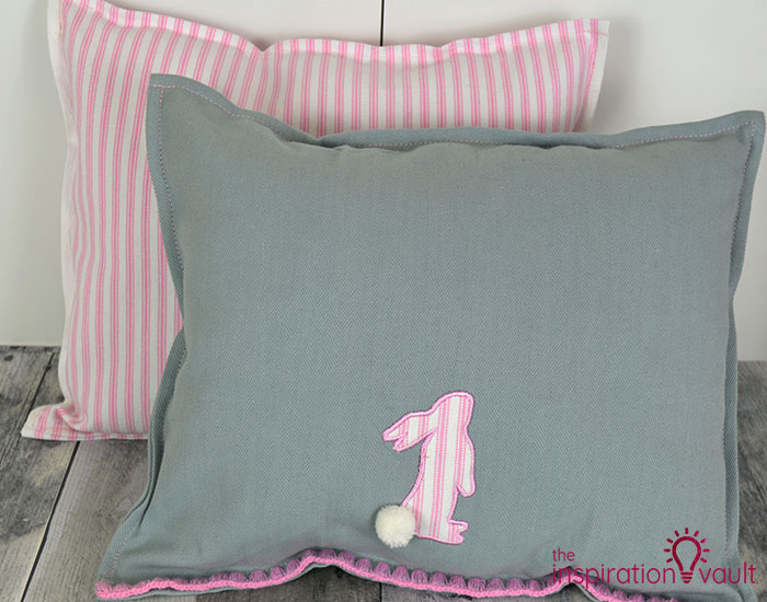 Easter Tea Towel Pillows Complete