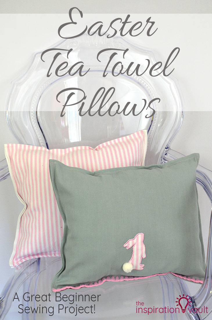 Easter Tea Towel Pillows DIY Sewing Craft Tutorial