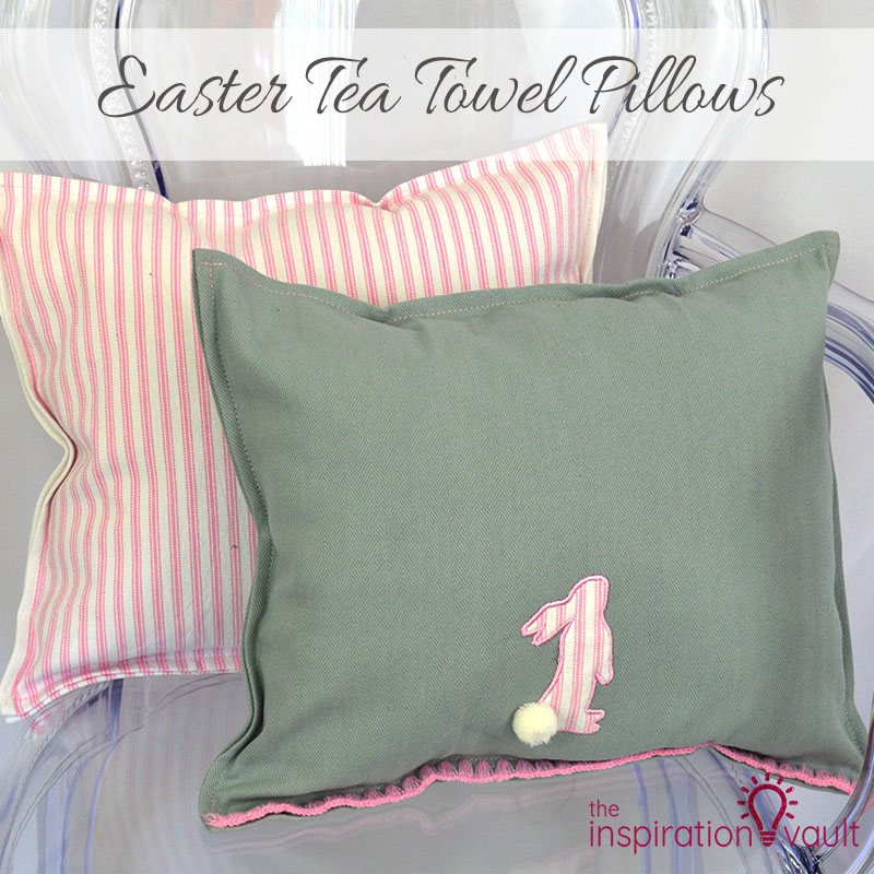 Easter Tea Towel Pillows Feature