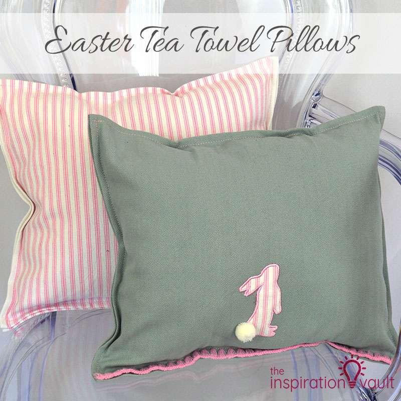 Easter Tea Towel Pillows Feature